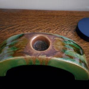 Vintage Accents - Vintage Arts & Crafts Drip Glaze Candle Arch